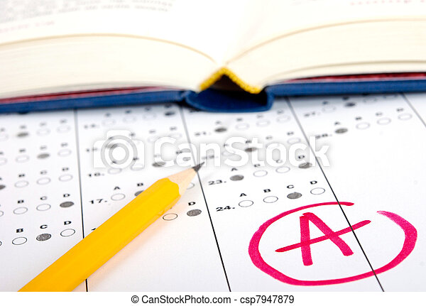 Test score sheet with answers - csp7947879
