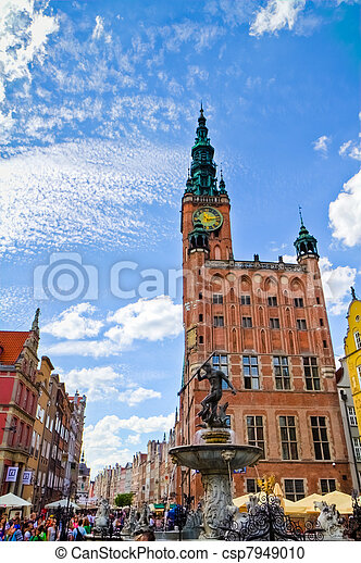 cidade, histórico,  Gdansk - csp7949010