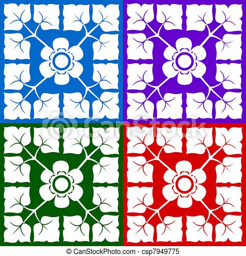 classical floral design - csp7949775