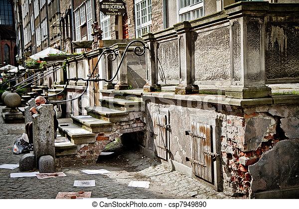 cidade, histórico, gdansk - csp7949890