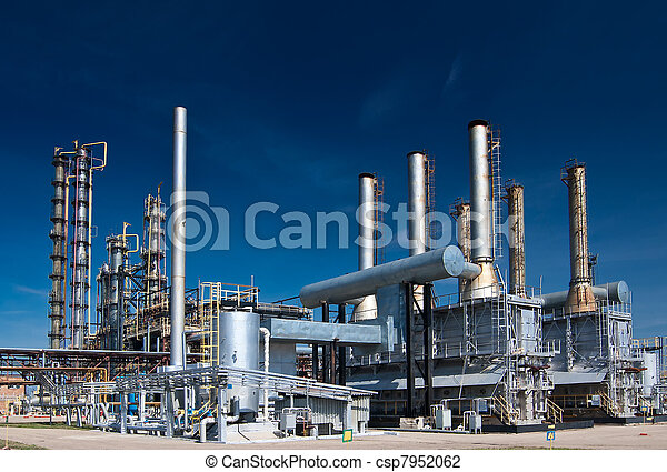 View gas processing factory. gas and oil industry
