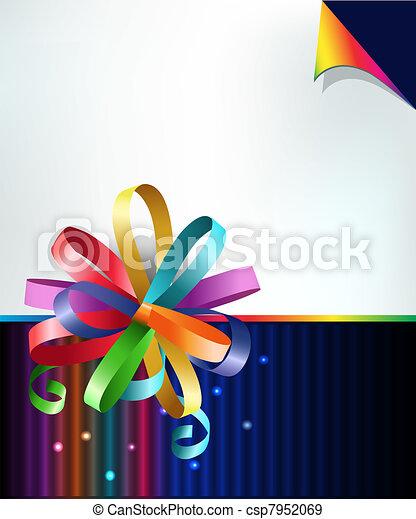 Rainbow bow - csp7952069