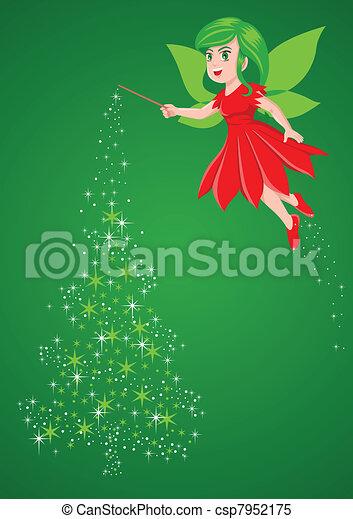 Christmas Pixie - csp7952175