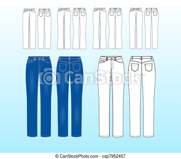 Jeans sketches for inspiration - csp7952457