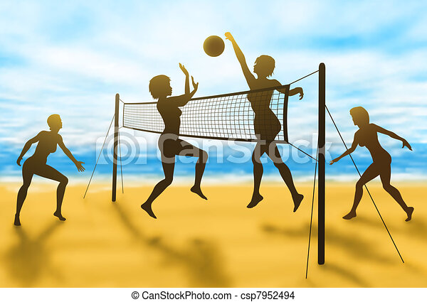 Volleyball women - csp7952494