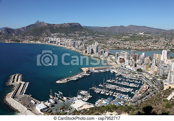 Mediterranean Resort Calpe, Costa-Blanca Spain - csp7952717