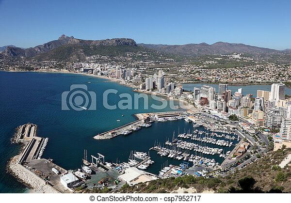 Mediterranean Resort Calpe, Costa-Blanca Spain - csp7952717