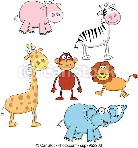 Animal cartoon - csp7952908