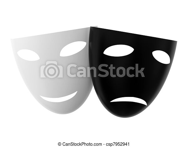 Mask Black And White Drawing Black And White Theatre Masks