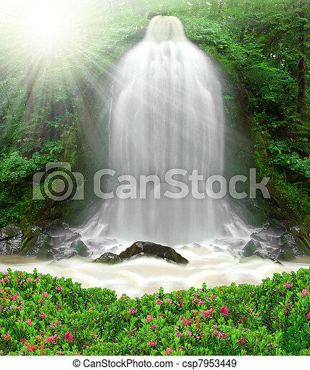 waterfall  - csp7953449