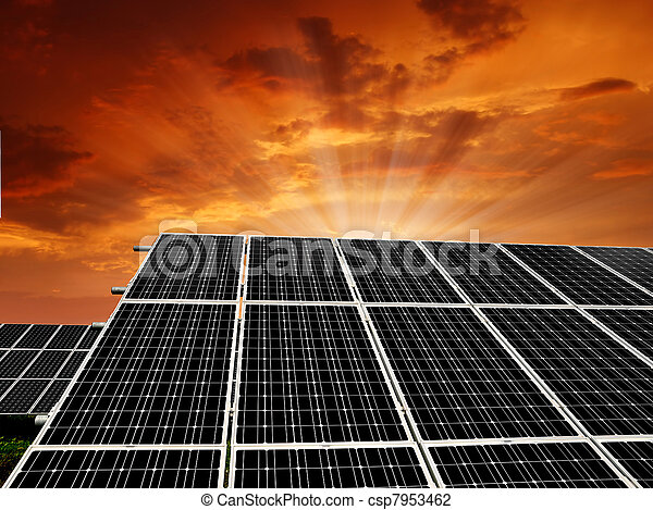 energie, ausschüsse, sonnenkollektoren - csp7953462