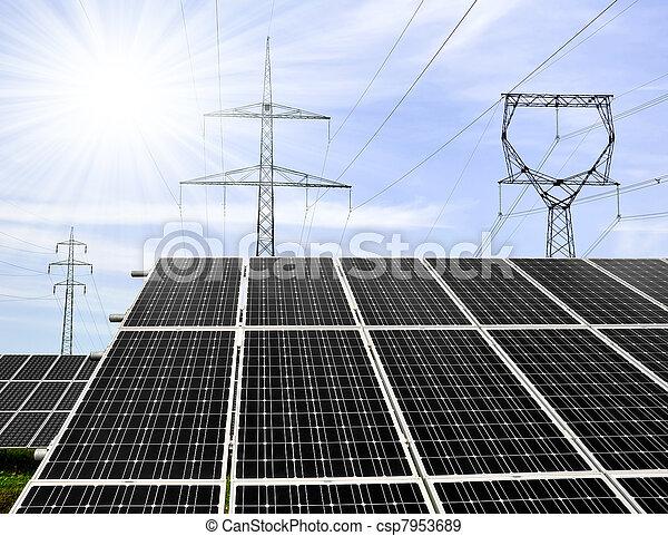 Solar energy panels - csp7953689