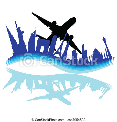 travel through various cities of the world - csp7954522