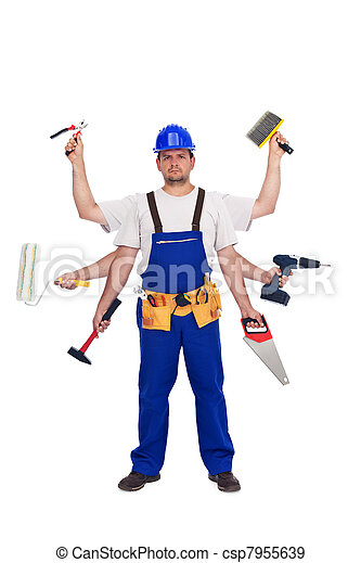 Handyman or worker - jack of all trades - csp7955639