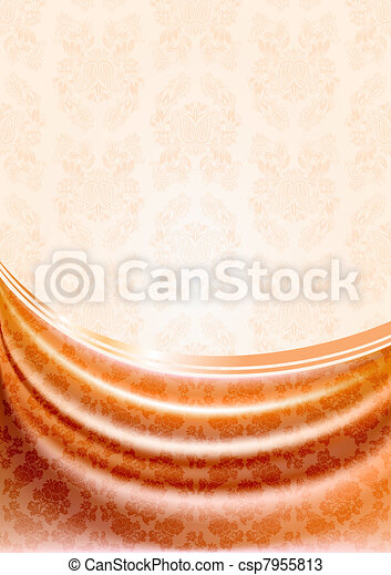 Peachy curtain, silk tissue - csp7955813