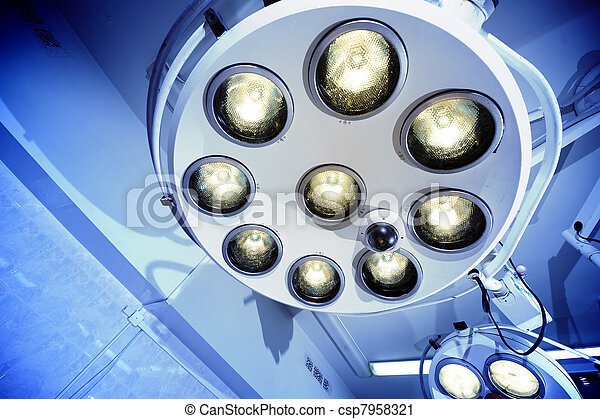 Surgical lamps in operation room - csp7958321