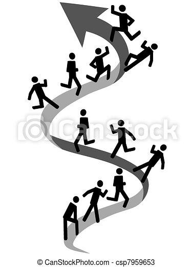 people climbing on up arrow - csp7959653
