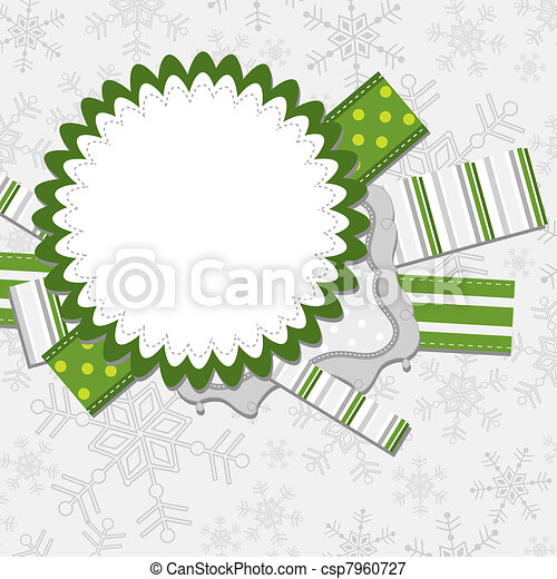 Template christmas greeting card, vector - csp7960727
