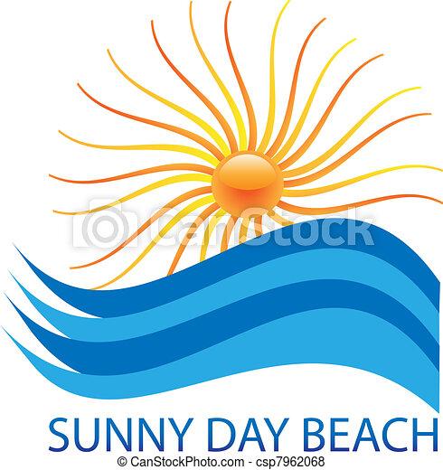 sun and waves logo - csp7962068