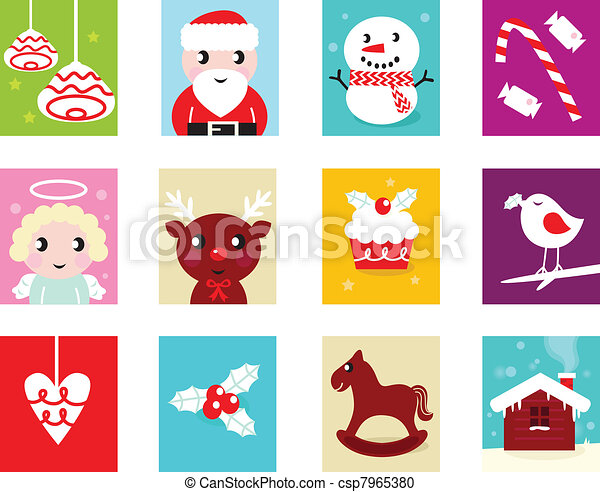 Vector Clipart of Christmas Advent Calendar elements 2 - isolated ...