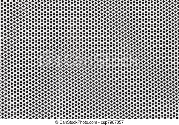 silver metal grate background - csp7967057