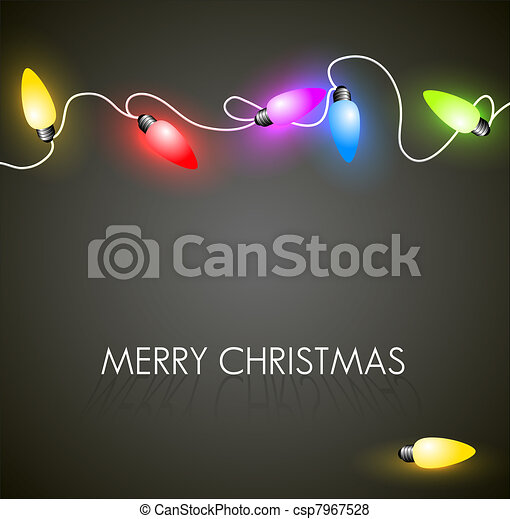 Vector Christmas background with colorful lights - csp7967528