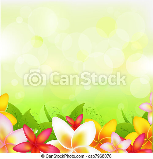 Natural Background With Garland From Plumeria - csp7968076