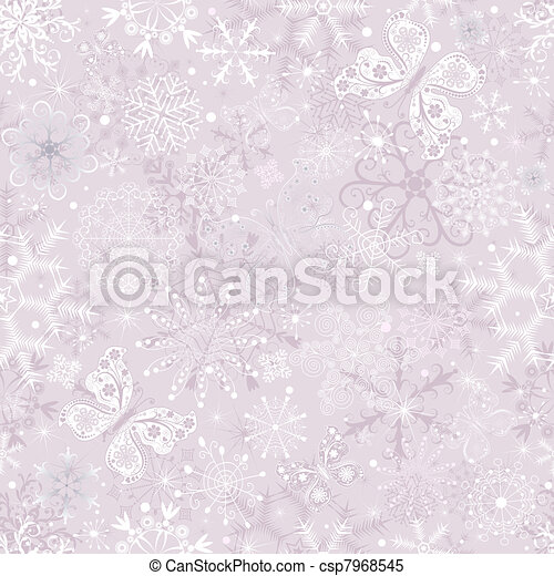 Gentle pink seamless Christmas pattern - csp7968545