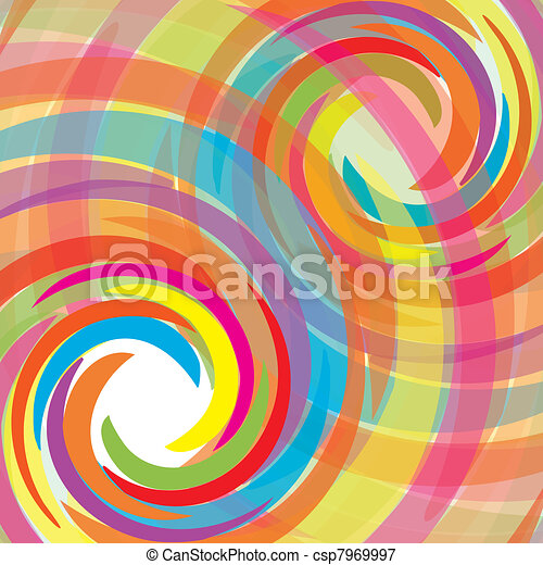 Abstract bacground with rainbow, vector illustration eps 10.0 - csp7969997