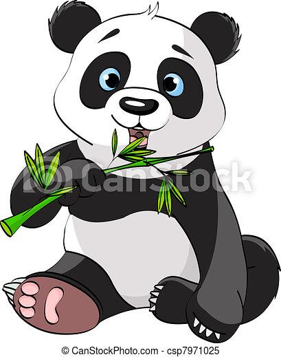 Panda eating bamboo - csp7971025
