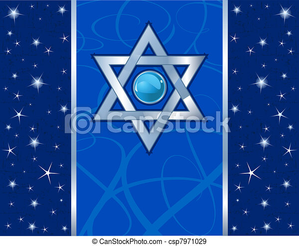 Magen David Holiday design - csp7971029