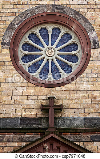 round church window - csp7971048