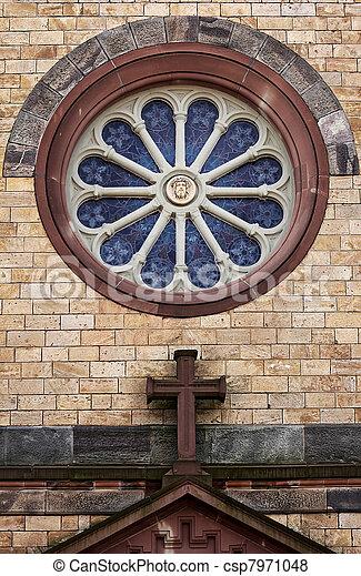 round church window - csp7971048