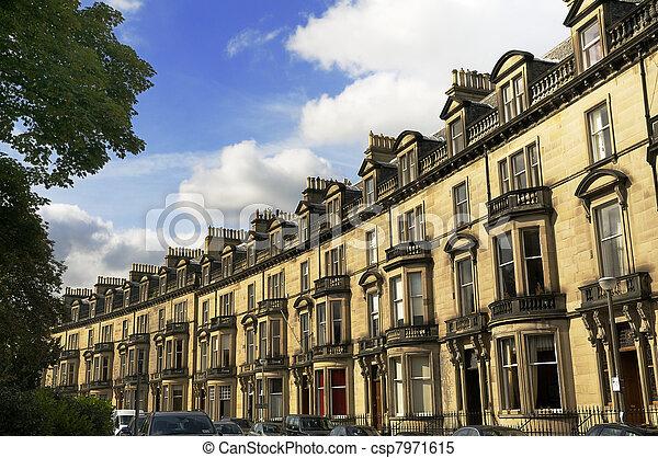 Upmarket Residential Housing, Edinburgh, Scotland - csp7971615