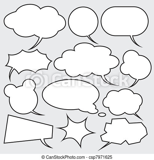 vector set of comics style speech bubbles - csp7971625