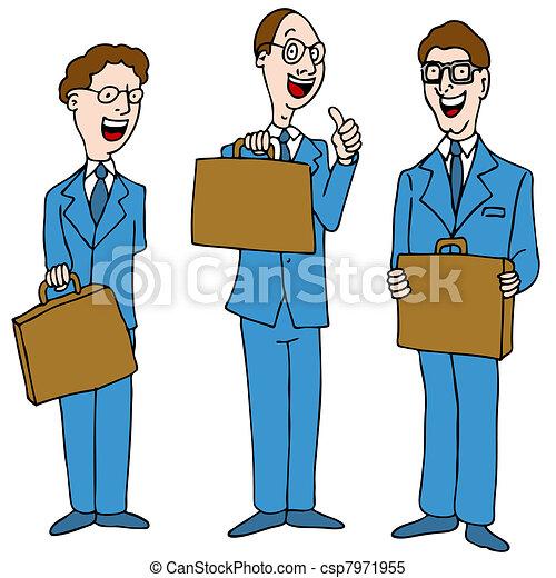 Men in Blue Suits - csp7971955
