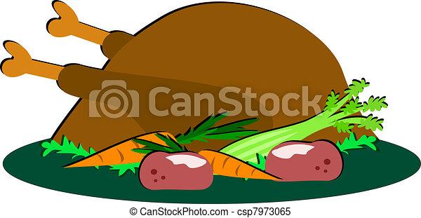 Festive Turkey Meal - csp7973065
