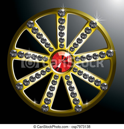 expensive gold diamond wheel - csp7973138