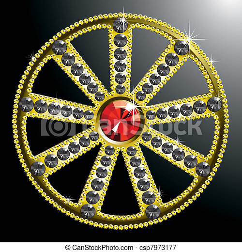 expensive gold diamond wheel - csp7973177