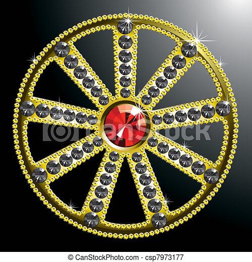 expensive gold diamond wheel - csp7973177