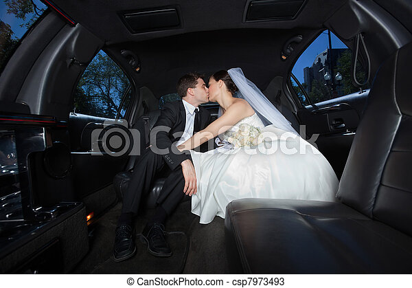 Wedding Couple Kissing Each Other - csp7973493