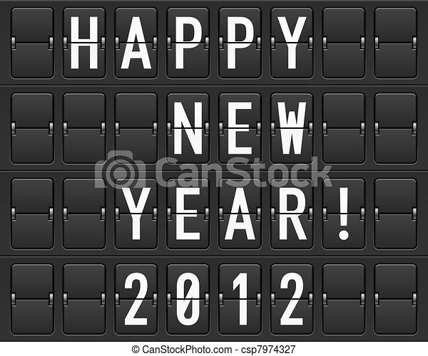 Scoreboard Happy New Year - csp7974327