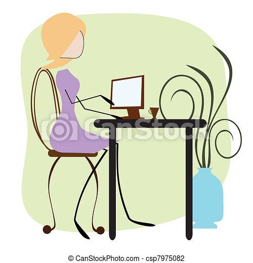 Office Girl - csp7975082