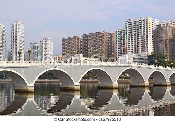 Photos de vo te pont dans asie en ville secteur hong kong csp7975513 - Pont des arts hong kong ...