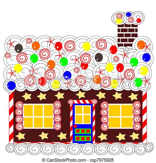 Gingerbread House Cartoon Xmas Gingerbread House