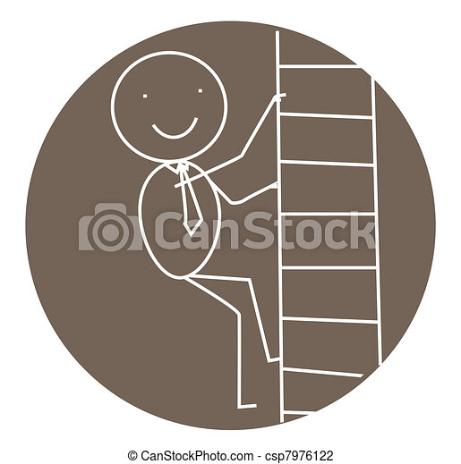 businessman stair success  - csp7976122