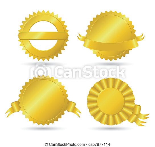Golden medallions - csp7977114