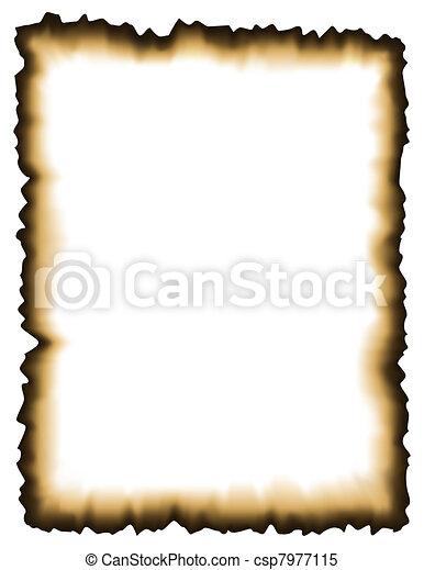 Burned paper - csp7977115