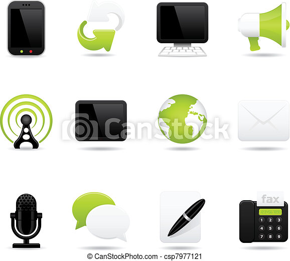communication icons - csp7977121