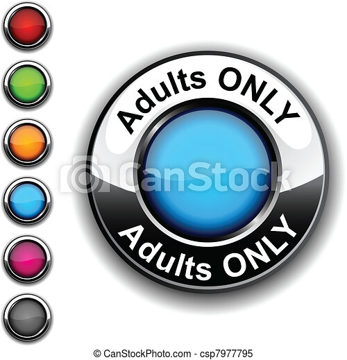 Adults only button. - csp7977795